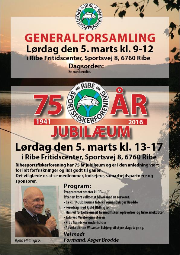 Generalforsamling samt Jubilæum – Ribe Sportsfiskerforening