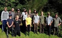 Junior tur Gels å, Enderupskov med besøg fra Kolding Sportsfiskerforening