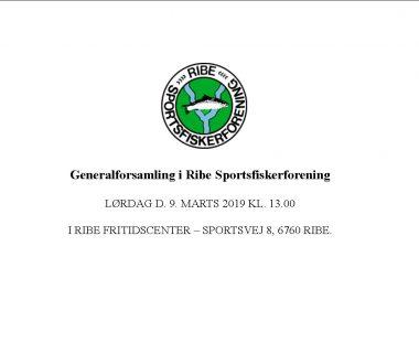 Generalforsamling i Ribe Sportsfiskerforening